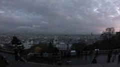 La Basilique du Sacré Cœur de Montmartre Stock Footage
