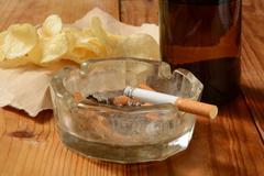 Unhealthy habits Stock Photos