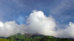 Clouds Covering Merapi Volcano Stock Footage