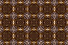 Kaleidoscopic pattern in shades of caramel Stock Photos