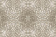 Kaleidoscopic pattern of linen tablecloths Stock Photos