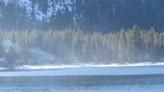 Peaceful Mountain Lake Stock Footage