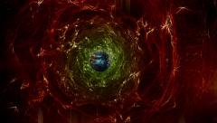 Abstract space scene in dark red Stock Footage