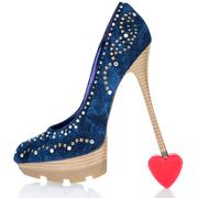 heel is worth at the symbolic heart - stock photo