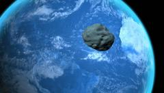 Asteroid flies past Earth Stock Footage