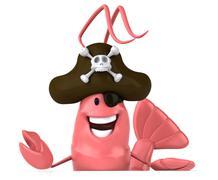Stock Illustration of fun shrimp