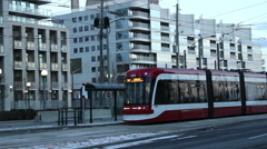 New TTC Streetcar Toronto Stock Footage
