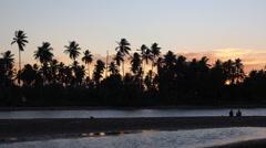 Sunset at Praia dos Garcez, Ilha de Itaparica, Bahia, Brazil Stock Footage