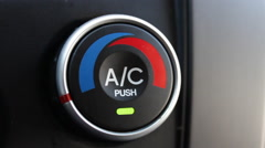 Turning Car AC to Off Stock Footage