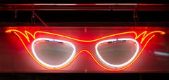 neon specs sign - stock photo