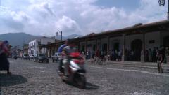 The streets of Antigua Guatemala,the ancient city of Central America Stock Footage