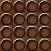 leather rounded abstract blocks stacked for seamless background, surface brow - stock illustration
