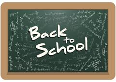 Illustration of billboard with back to school text Stock Illustration