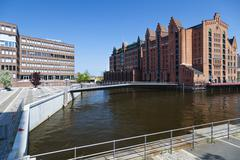 old building of the international maritime museum in hamburg, germany - stock photo