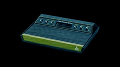Atari VCS 2600 - Video Game System screen - Motion Graphic - stock footage