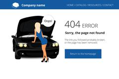 Page not found Error 404 Stock Illustration