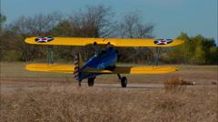 Boeing PT 17 Stearman Taxi Turn Stock Footage