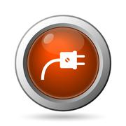 Stock Illustration of plug icon. internet button on white background..