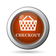 Checkout icon. internet button on white background.. Stock Illustration