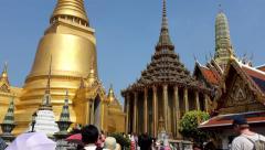 Wat Phra Kaew grand buddha temple bangkok thailand Stock Footage