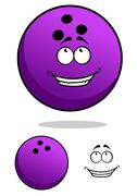 lucky cartoon bowling ball character - stock illustration