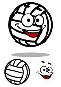 Cartoon white volleyball ball character Piirros