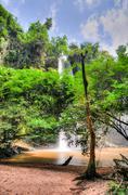 boti falls, ghana - stock photo