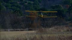 De Havilland Tiger Moth Fly By Stock Footage