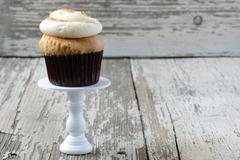 Mocha flavored cupcake Stock Photos