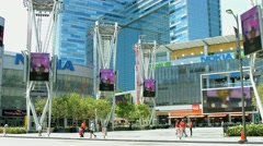 4K, UHD, Nokia Center in Los Angeles, California, BlackMagic Production Camera Stock Footage