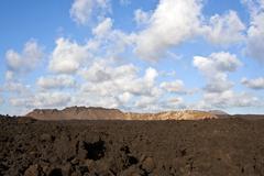Vulcanic landscape under the extincted vulcano Stock Photos
