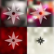 compass icon on blurred background - stock illustration