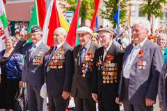 Unidentified veterans during the celebration of Victory Day. GOM Kuvituskuvat