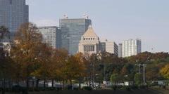 Japan's National Diet Building in Tokyo Stock Footage
