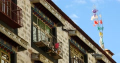 4k famous barkhor street building in lhasa,tibet. Stock Footage