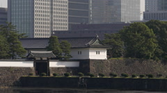 Sakurada Gate of the Imperial Palace in Tokyo, Japan Stock Footage
