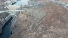 4K Hoover Dam Aerial View From Helicopter Stock Footage