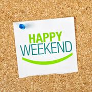 Happy weekend Stock Illustration