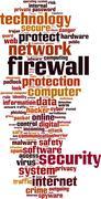 Firewall word cloud Stock Illustration