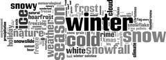 Winter word cloud Stock Illustration