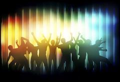 dancing people - stock illustration