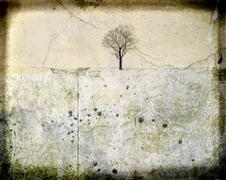 Grunge tree background Stock Illustration