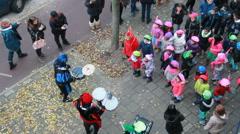 Children celebrate Santa Claus Stock Footage