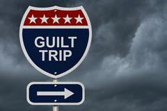 Guilt trip this way Stock Illustration