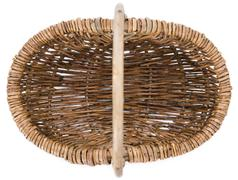 Small basket isolated on white Stock Photos