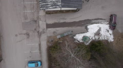 Drone Aerial high angle view of old building Stock Footage