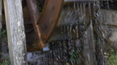 Water Wheel in Tsumagojuku, Nagano Prefecture, Japan Stock Footage