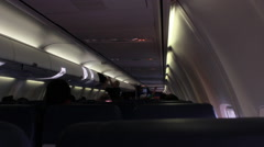 Inside an airline cabin Stock Footage