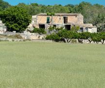 spanish country scene - stock photo