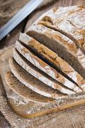 fresh baked loaf of bread - stock photo